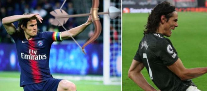 Edinson Cavani marque un doublé avec Manchester United, une mauvaise nouvelle pour le PSG