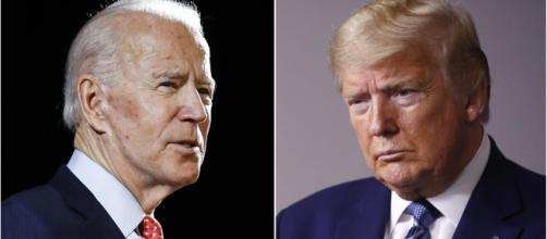 A la izquierda, el candidato demócrata Joe Biden. A la derecha, el republicano Donald Trump.