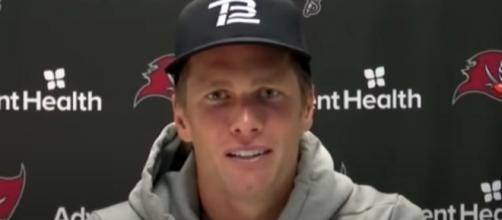 Brady has not been swept by a division rival. [Image source: Tampa Bay Buccaneers/YouTube]
