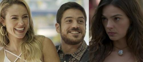"""Jeiza e Zeca irritam Ritinha em """"A Força do Querer"""". (Reprodução/TV Globo)"""