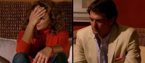 Jerônimo conta a Renata a verdade sobre o bebê de Roberta. (Televisa)