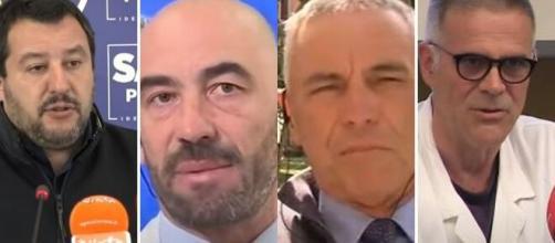 Matteo Salvini, Matteo Bassetti, Giorgio Palù e Giorgio Palù.