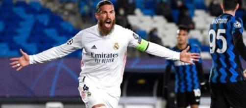 Sergio Ramos, difensore centrale del Real Madrid.