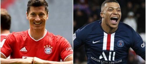 Lewandowski e Mbappe são os maiores artilheiros dos principais campeonatos de futebol na Europa. (Arquivo Blasting News)