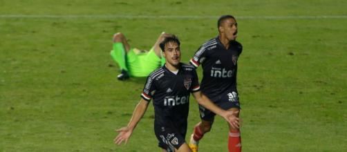 Brenner e Igor Gomes foram os autores dos gols do Clube da Fé no Morumbi. (Arquivo Blasting News)
