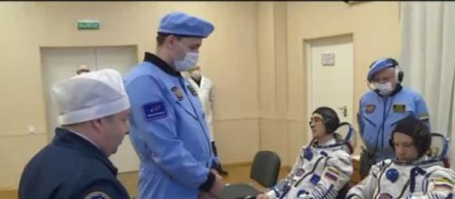 NASA and Roscosmos astronauts launch to the International Space Station ISS [Image source/CNET Highlights YouTube video]