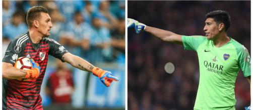 Armani e Andrada deverão desfalcar River e Boca, pois estarão representando a Seleção Argentina nas Eliminatórias. (Arquivo Blasting News)