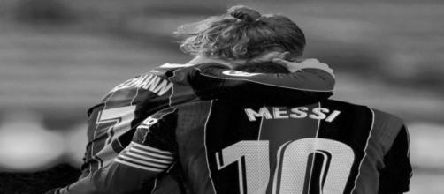Le message plein d'amour d'Antoine Griezmann à Lionel Messi fait réagir la Toile. source twitter Griezmann