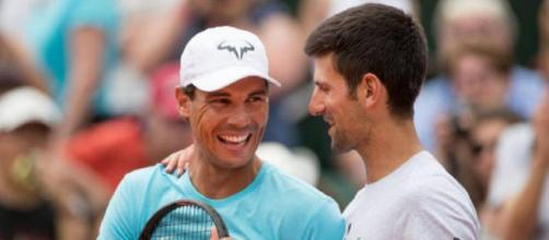 Rafael Nadal e Novak Djokovic, avversari alle prossime Atp Finals.