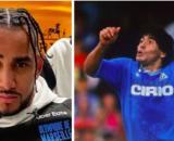 Dimitri Payet se fait détruire par les fans de l'OM - Photo montage instagram payet et Maradona