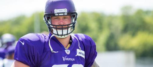 Kyle Rudolph caught a season-high seven passes on Sunday. [Image Source: Flickr | Matthew Deery]