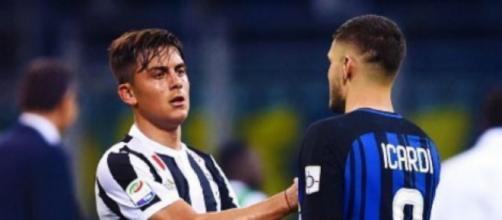 Nella foto Paulo Dybala e Mauro Icardi.