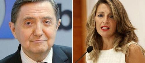 Federico Losantos y Yolanda Díaz en imagen