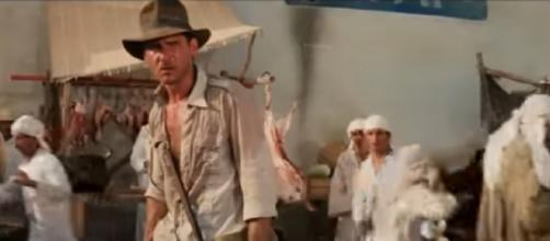 Harrison Ford and Steven Spielberg reveal true story behind this Indiana Jones moment. [© Entertainment Tonight YouTube video]