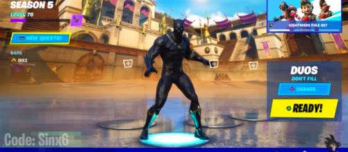 Marvel's Black Panther will be added in 'Fortnite.' [Image source: SinX6/YouTube]