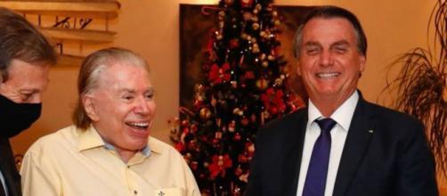 Jair Bolsonaro e Silvio Santos demonstram bom relacionamento. (Reprodução/Instagram)
