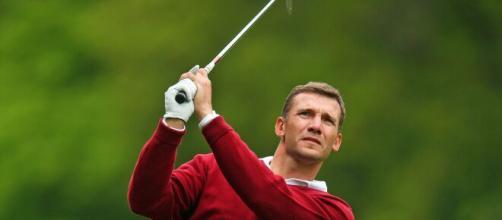 Shevchenko investiu na prática do golfe. (Arquivo Blasting News)