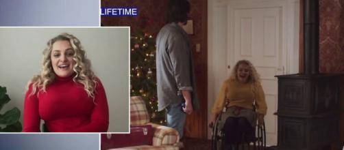 "Ali Stroker talks ""Christmas Ever After"" © PIX11 News/YouTube Screencap"