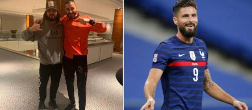 'C'est incroyable' Mohamed Henni dézingue Olivier Giroud et le compare à Benzema. ©Instagram giroud918/henni_mohamed_off/