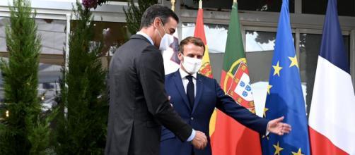 Pedro Sánchez y Emmanuel Macron tuvieron un encuentro el 14 de diciembre en el Palacio del Elíseo.