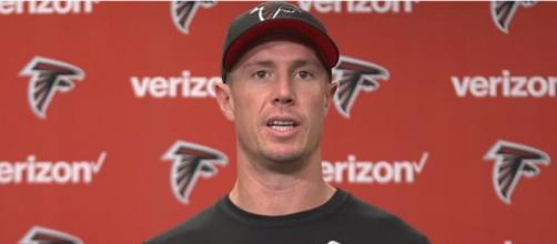 Ryan and the Falcons squandered a 25-point lead in Super Bowl LI. [© Atlanta Falcons/YouTube]