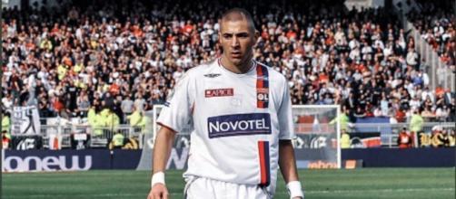 Benzema sous le maillot de Lyon