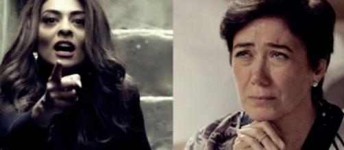 Bibi e Silvana em 'A Força do Querer'. (Foto: Montagem/Globo)