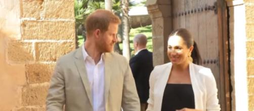 First Christmas in the US for Prince Harry and Meghan Markle. How they are spending it. [Image source/Entertainment Tonight YouTube video]