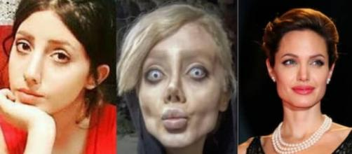La joven de 19 años estuvo presa acusada de 'blasfemia' y 'obscenidad' por su apariencia 'zombie' que remite a Angelina Jolie.