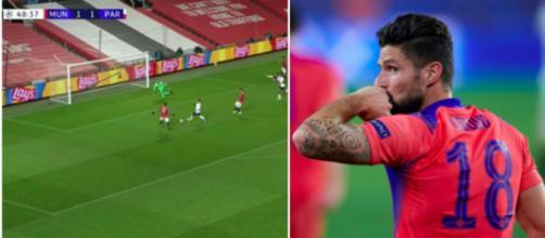 Les internautes comparent Martial et Giroud sur Twitter - Photo montage