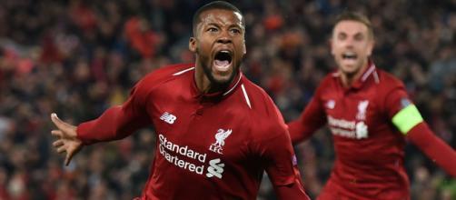 Wijnaldum con la maglia del Liverpool.