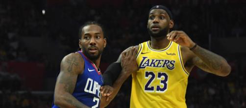 Kawhi Leonard e LeBron James são as principais estrelas de Los Angeles Clippers e Los Angeles Lakers. (Arquivo Blasting News)