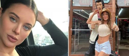 Lana Rhoades dévoile ses messages privés avec un joueur aux '43 millions de followers'. Photo montage