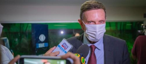 Marcelo Crivella è preso nesta terça-feira. (Arquivo Blasting News)