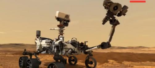 NASA outlines the Mars sample return process. [Image source/AP Archive YouTube video]