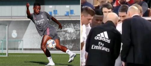 Real Madrid : Vinicius Junior ignoré par ses coéquipiers, la vidéo fait le buzz. Photo montage