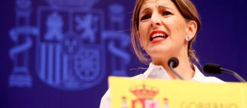 Yolanda Díaz, ministra de Trabajo, defiende la aprobación de la subida en el SMI.