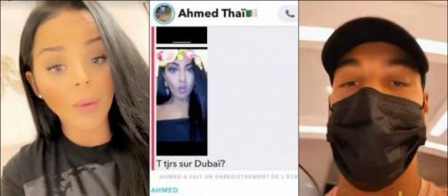 Ahmed une nouvelle fois accusé de tromper Sarah Fraisou, une jeune femme balance leur conversation Snapchat.