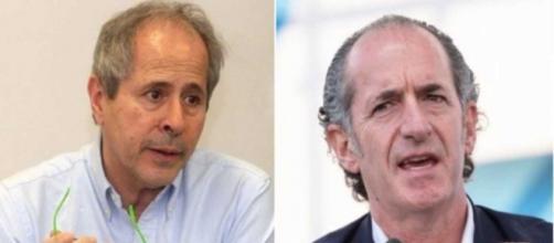 Andrea Crisanti critica l'uso dei tamponi rapidi in Veneto.
