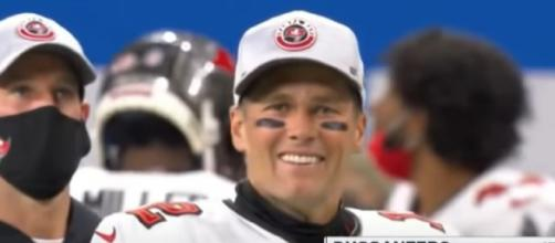 Brady is all smiles as he led Buccaneer to playoffs (Image Credit: First Take NFL/YouTube)