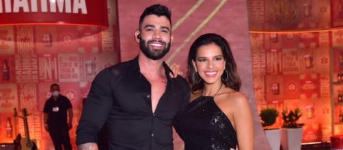 Mariana Rios e Gusttavo Lima em evento do Villa Mix. (Arquivo Blasting News)