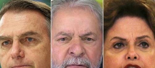 Bolsonaro ataca Dilma e Lula defende a petista. (Foto: Arquivo Blasting News)