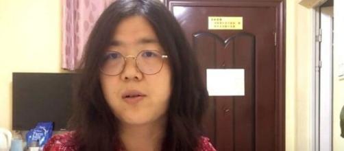 Imagen de la periodista y abogada activista Zhang Zhan.
