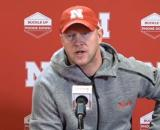 Scott Frost speaks on losing close games, determined to reverse the trend. [Image Source: Husker Online Video/ YouTube Screenshot]
