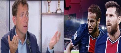 Daniel Riolo a annoncé l'arrivée de Messi au PSG sur RMC.©Capture RMC