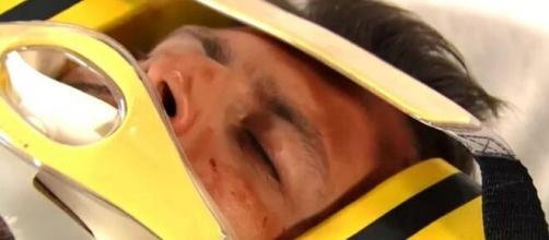 Cassiano se acidenta em 'Flor do Caribe'. (Foto: Globo).