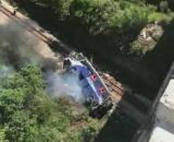 O ônibus caiu de uma ponte em Minas Gerais. (Arquivo Blasting News)