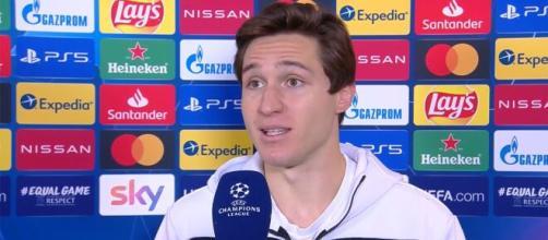 Federico Chiesa, giocatore della Juventus.