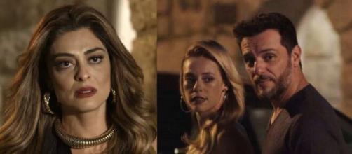 Bibi perceberá clima entre Jeiza e Caio em 'A Força do Querer'. (Reprodução/ TV Globo).