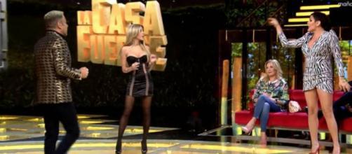Fuerte discusión entre Oriana Marzoli y Amor Romeira en 'La Casa fuerte'.